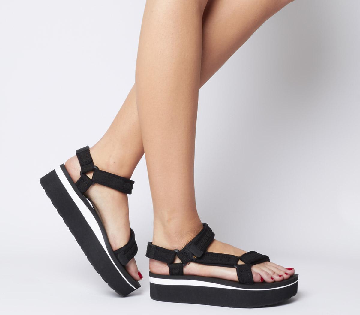 Teva Flatform Universal Sandals Black