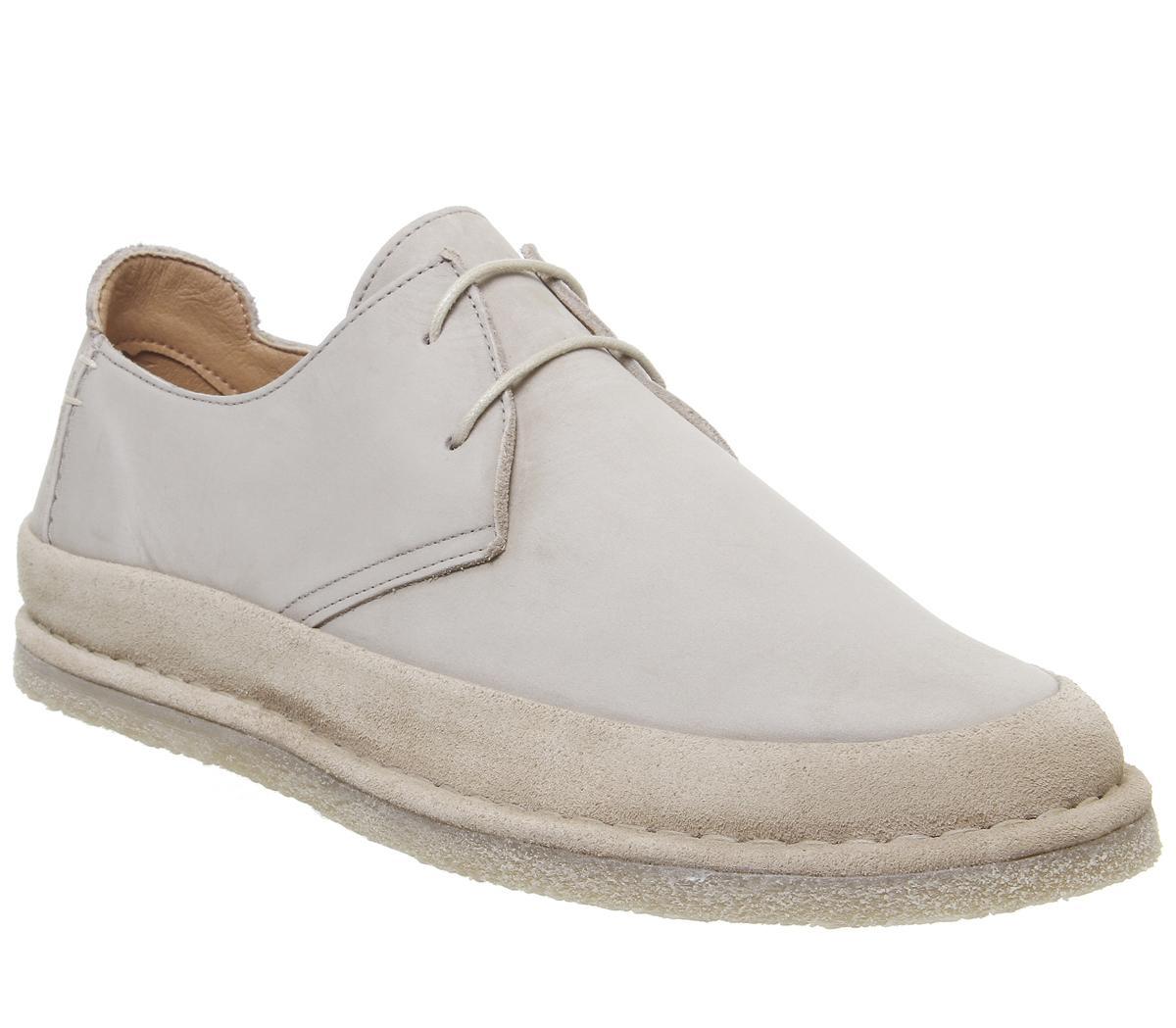 Mens Office Lark Derby Lace Up Shoes Beige Nubuck Casual Shoes