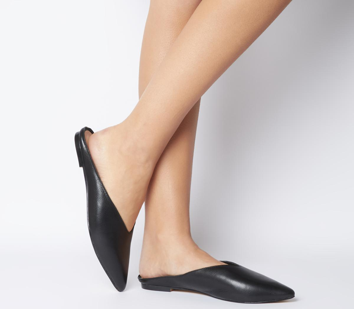 Office Frankly Pointed Mules Black