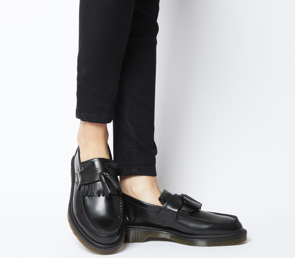 where to buy outlet for sale wide varieties Dr. Martens Adrian Loafers Black Smooth - Flats