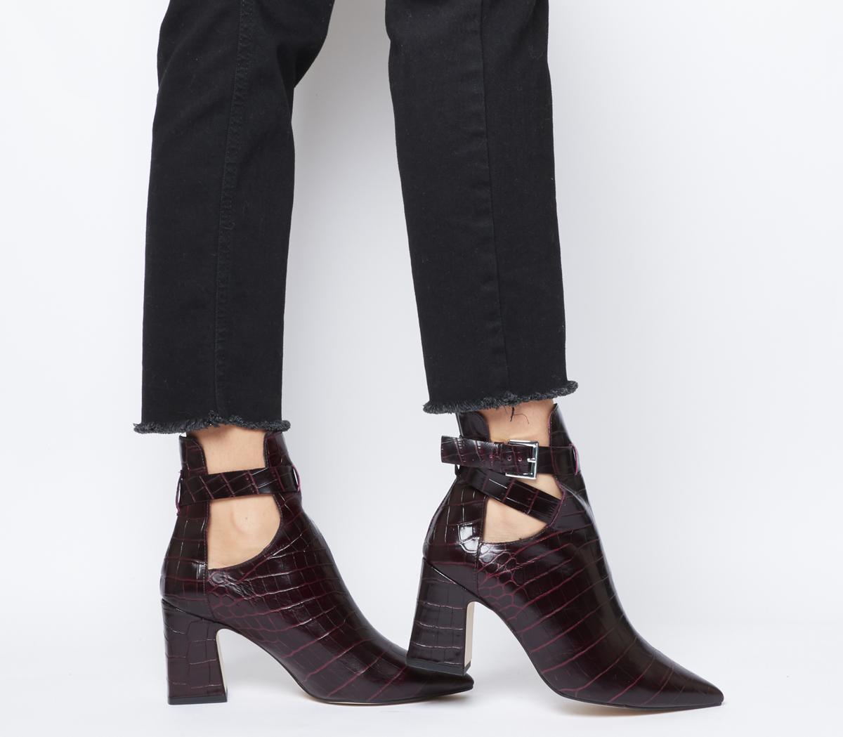 Office Alternative- Cut Out Block Heel
