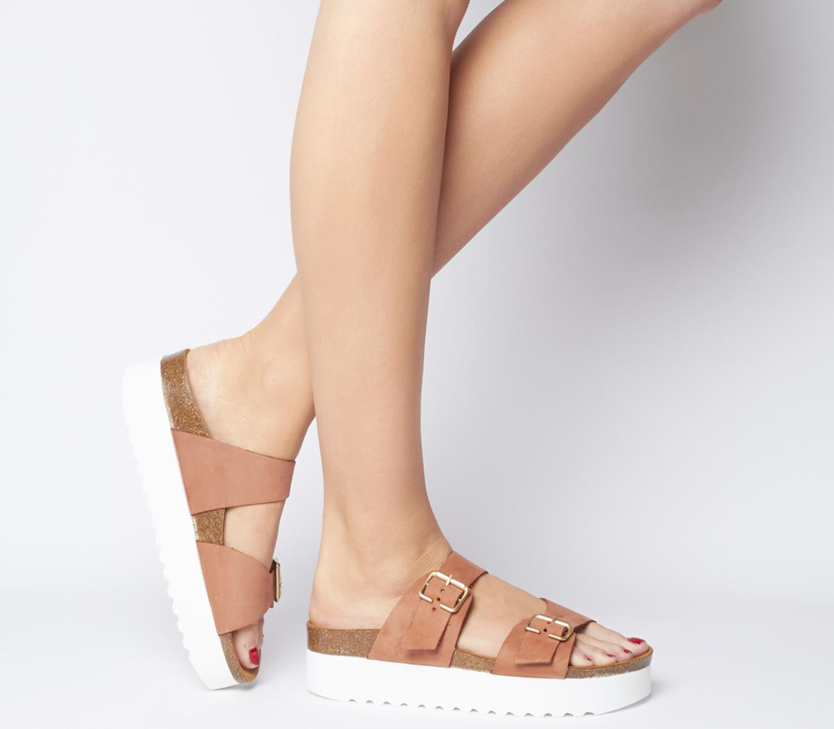 Measured Double Strap Footbed Sandals