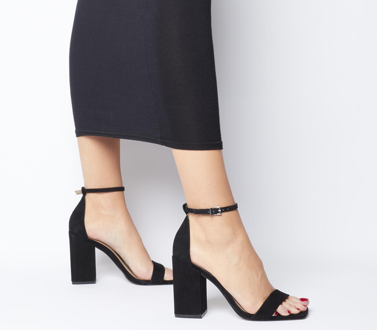 Office Heroic Block Heel Sandals Black