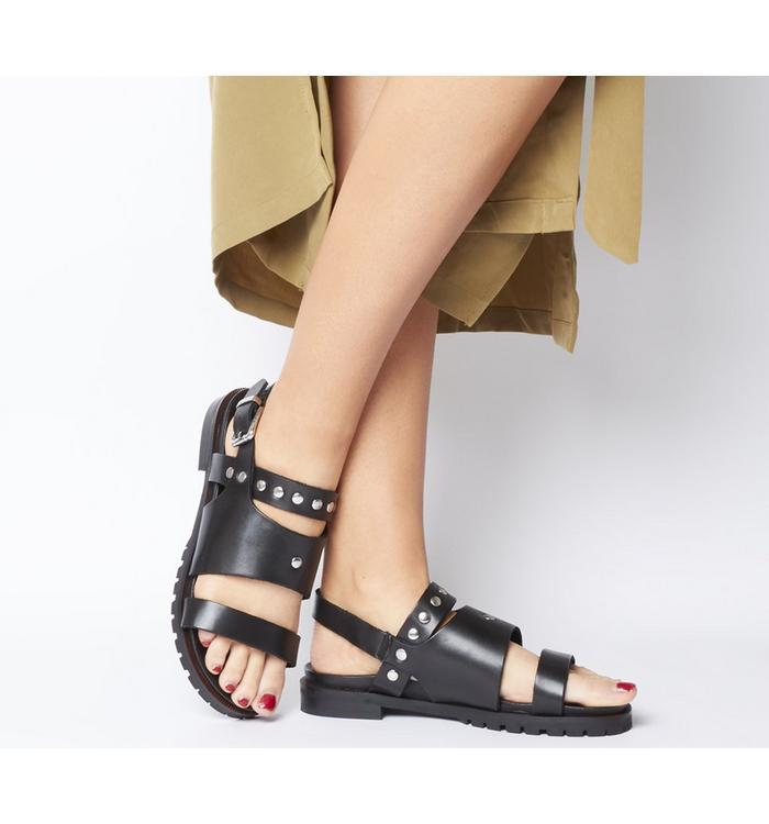 Shoe the Bear Shoe the Bear Kim Studs Sandal BLACK LEATHER