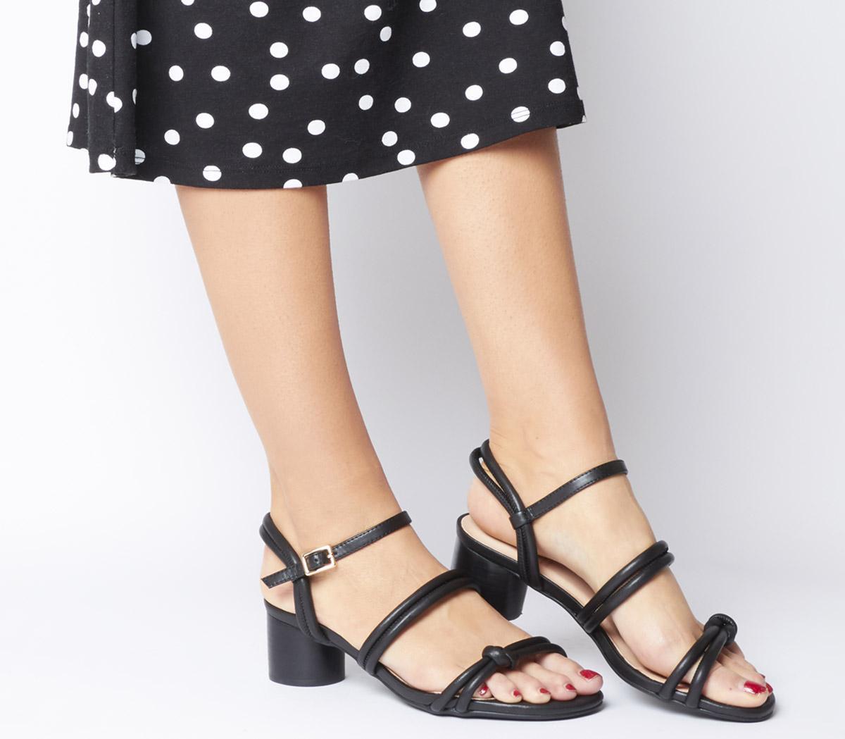Shoe the Bear Aya Knot Sandals Black