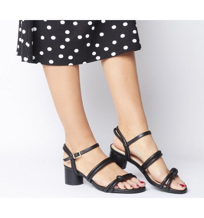 Shoe the Bear Shoe the Bear Aya Knot Sandal BLACK LEATHER