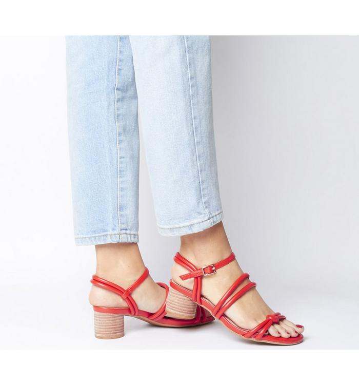 Shoe the Bear Shoe the Bear Aya Knot Sandal CORAL RED