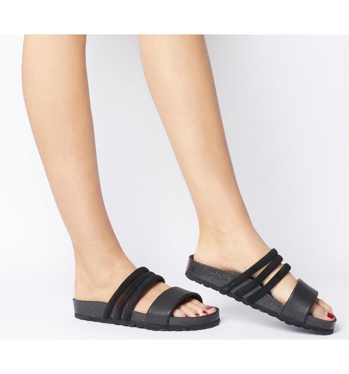 Shoe the Bear Shoe the Bear Cara Puff Sandal BLACK LEATHER