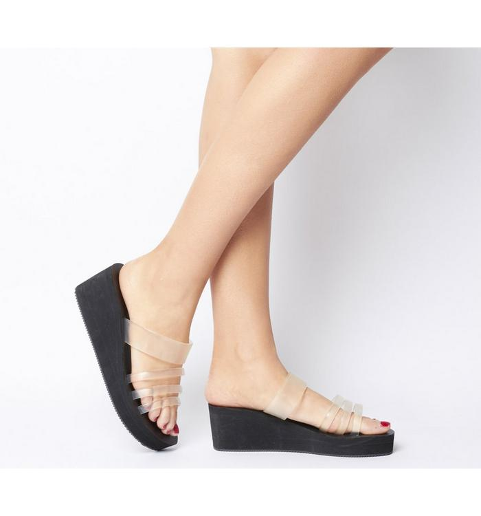 Shoe the Bear Shoe the Bear Jade Slide Wedge BLACK