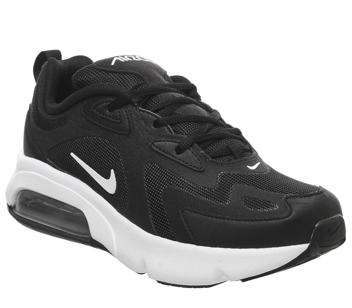 nike air max 200 black and white