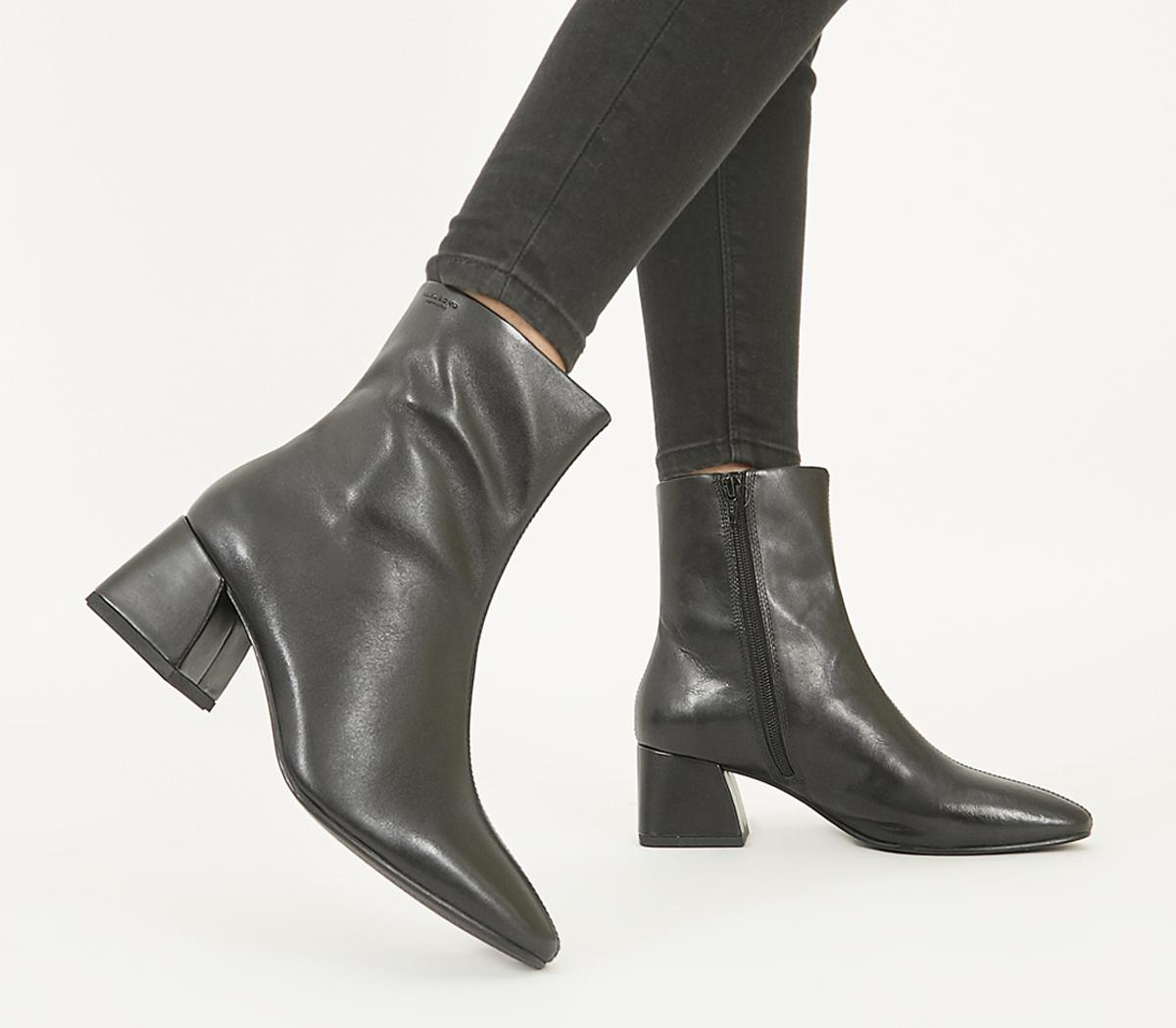 Vagabond Alice Block Heel Boots Black