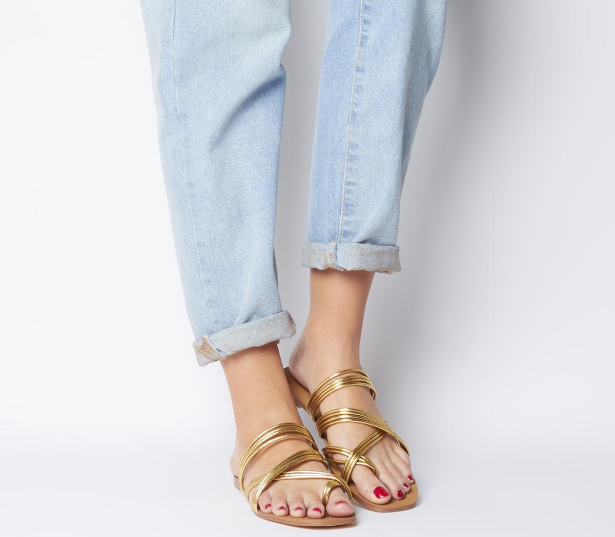 Snazzy Strippy Sandals