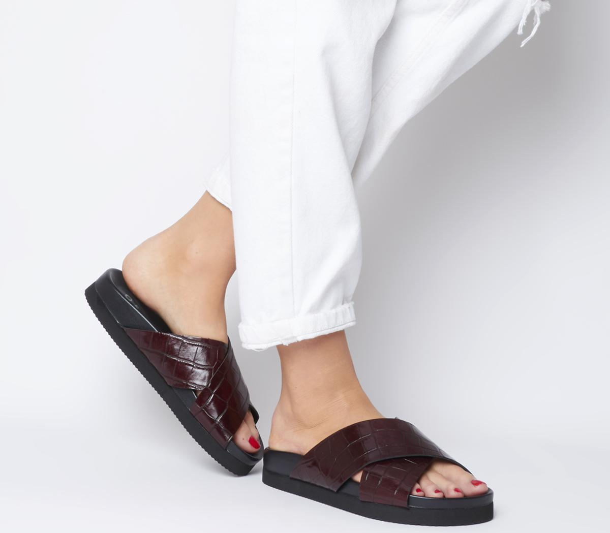 Savage Cross Strap Footbed Sandals