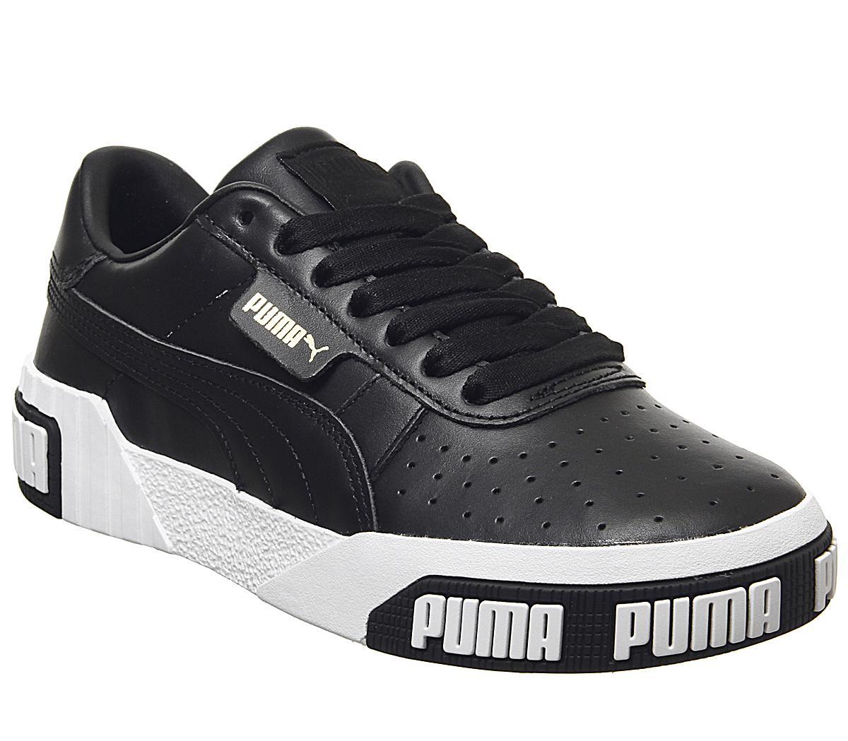 Puma Cali Bold Trainers Puma Black Metallic Gold Sneaker damen