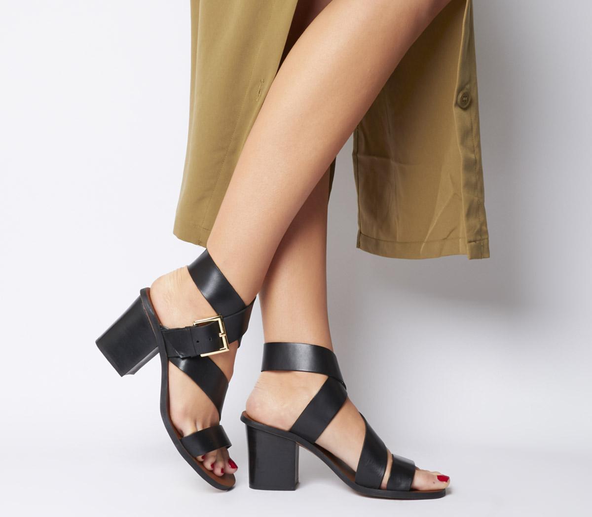 Office Matchbox Block Heel Sandals