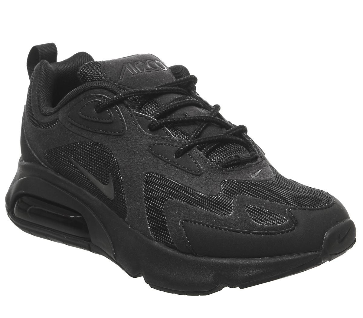 Nike Air Max 200 Trainers Black Mono