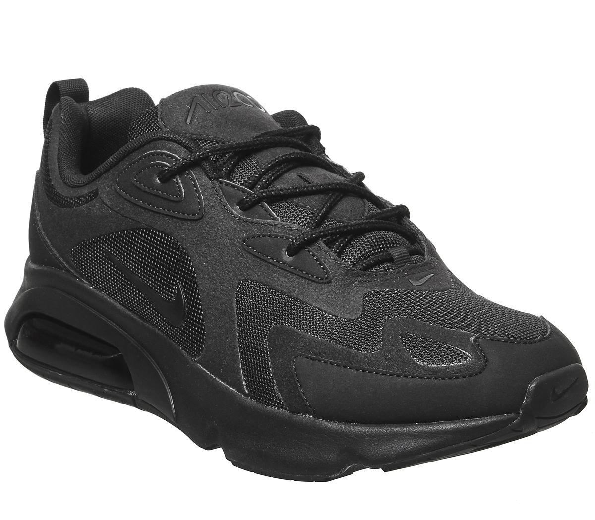 Nike Air Max 200 Trainers Black - His
