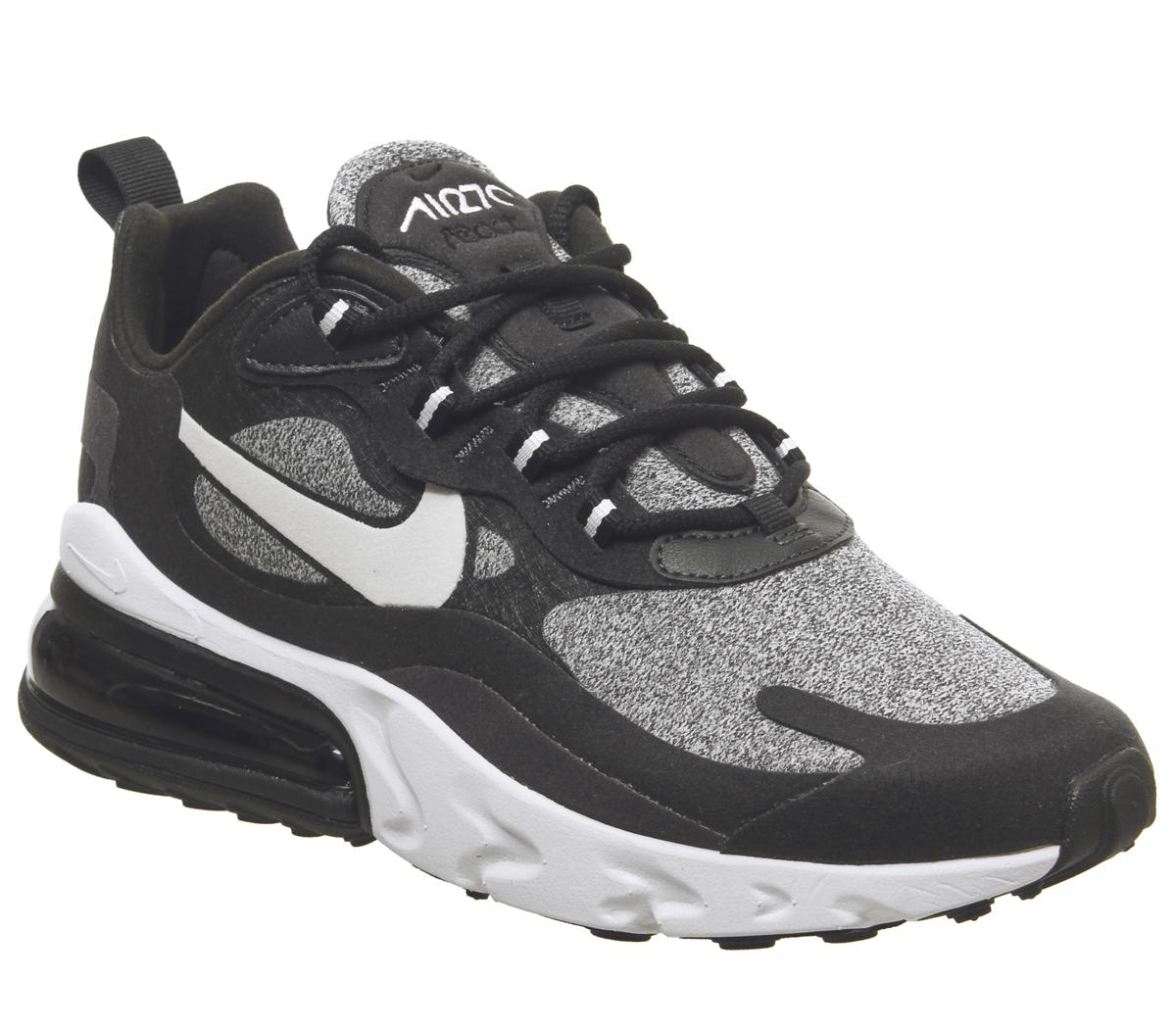 great deals 2017 detailed look 100% high quality Nike Air Max 270 React Trainers Black Vast Grey Off Noir - Hers ...