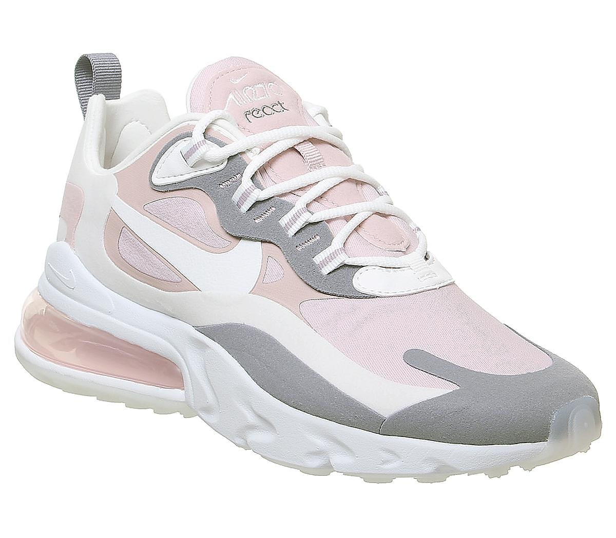 air max 270 react white and pink