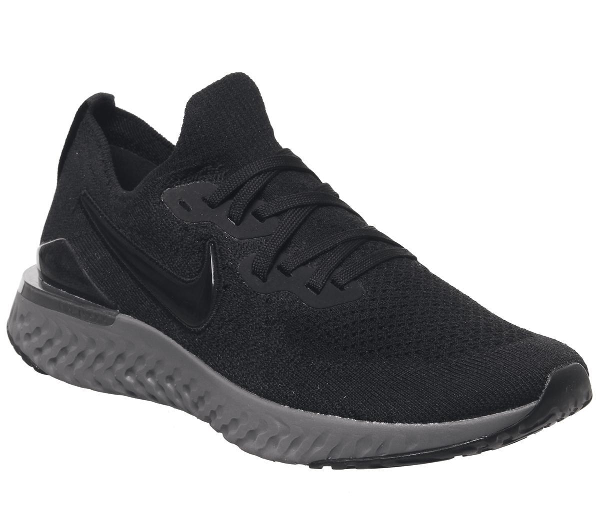 Nike Epic React Flyknit 2 Black Black