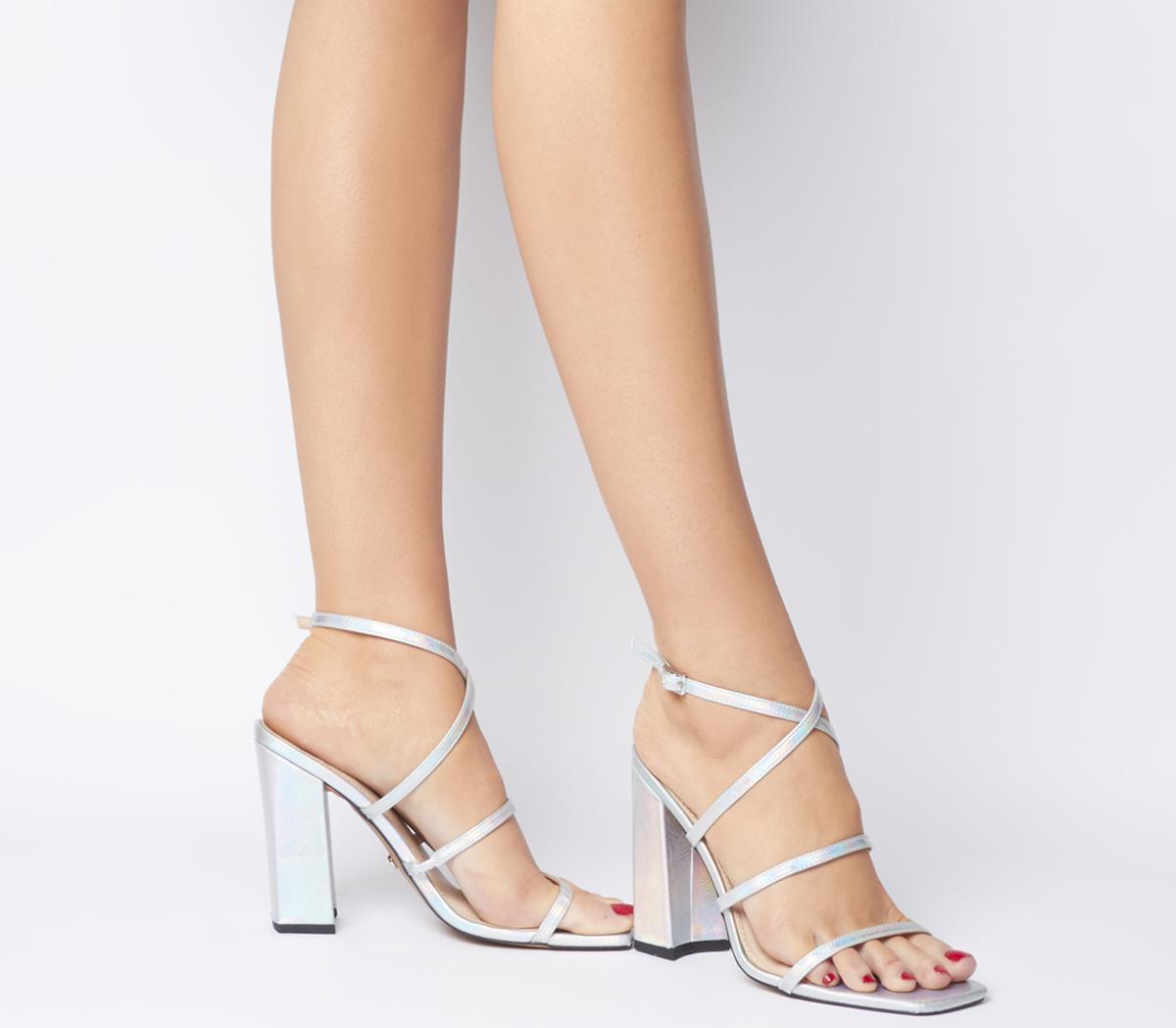 Hasty Iridescent Block Heels