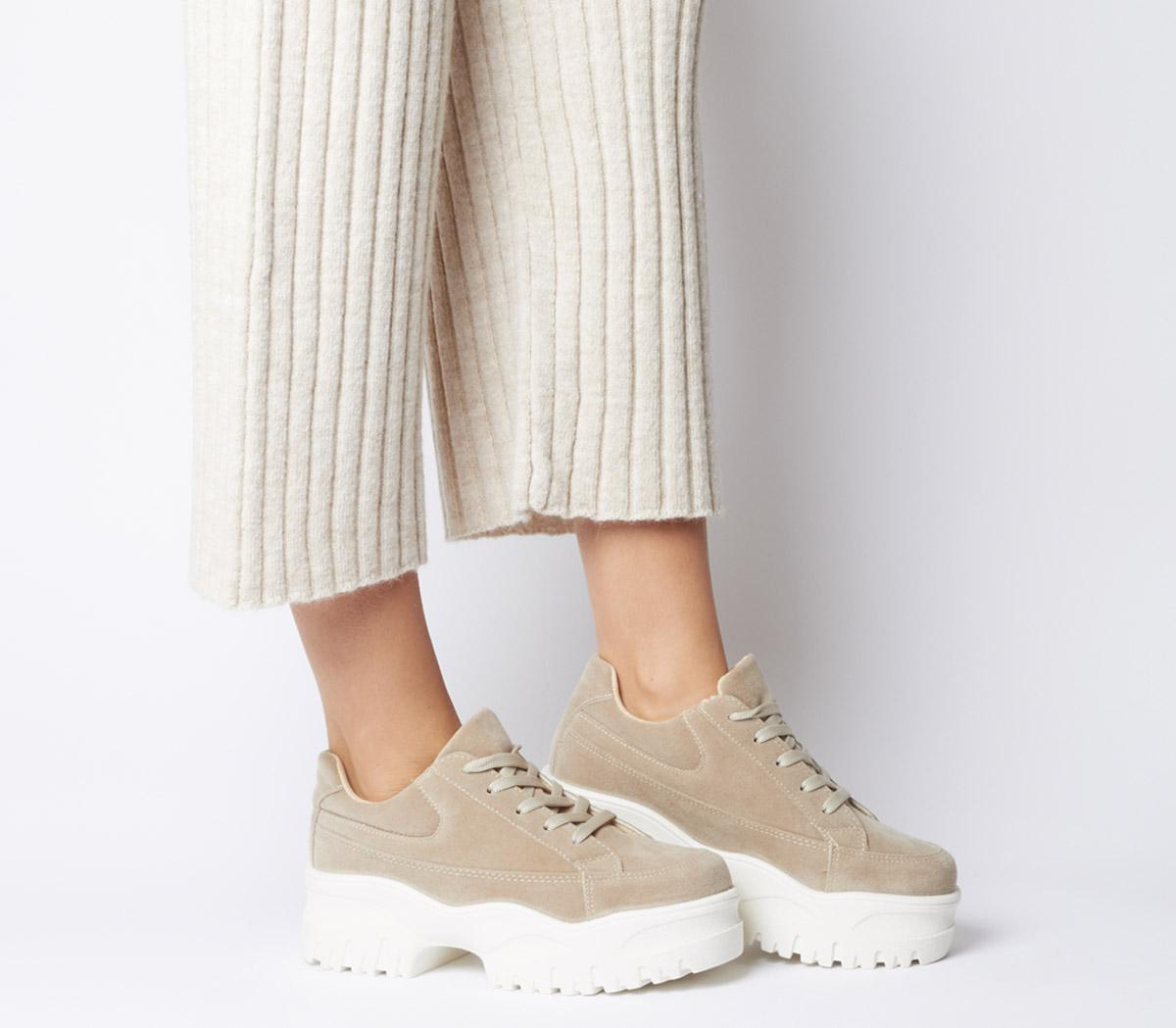 Office Fleeting Chunky Trainers Beige