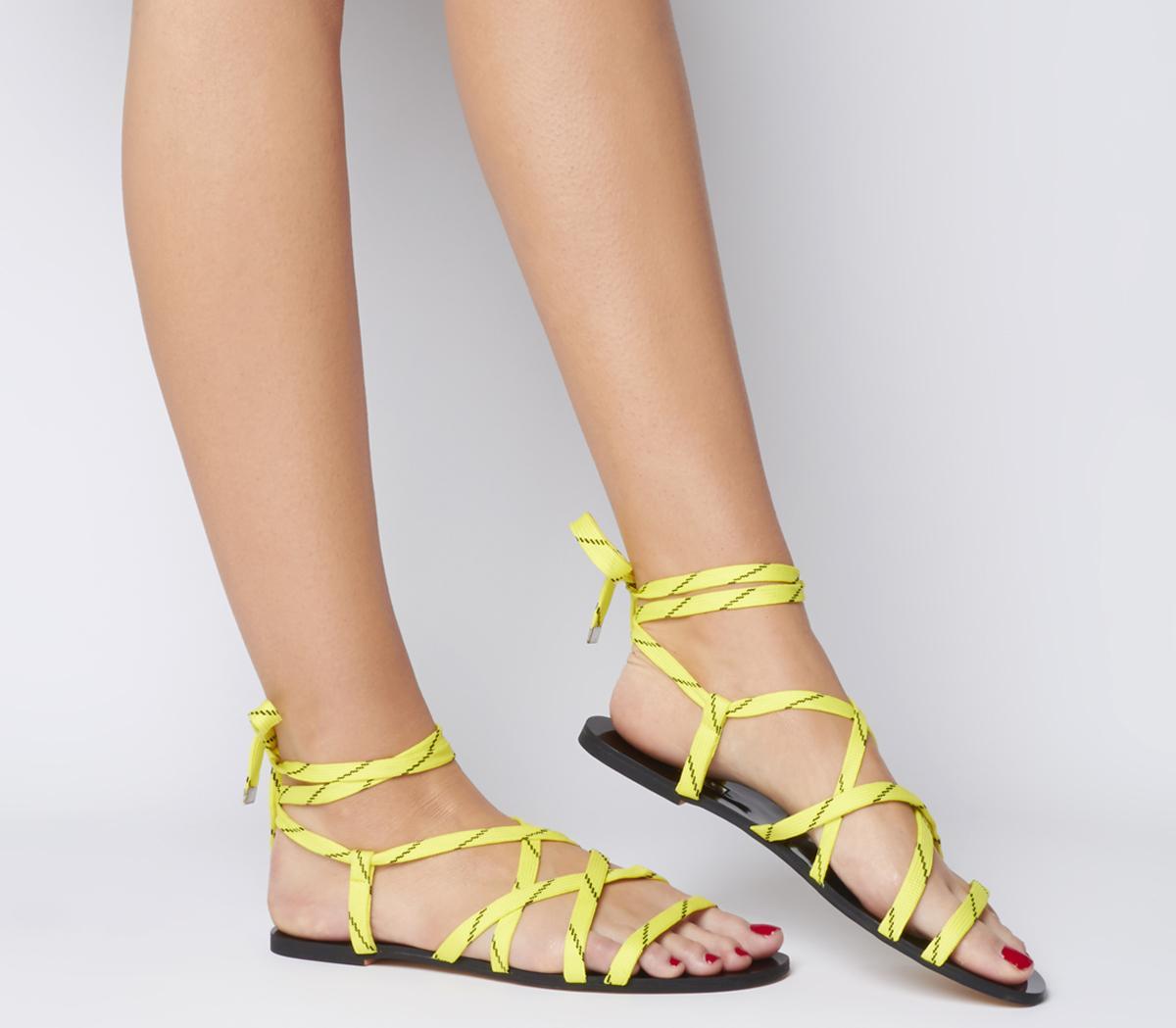 Strobe Tie Up Cord Sandals