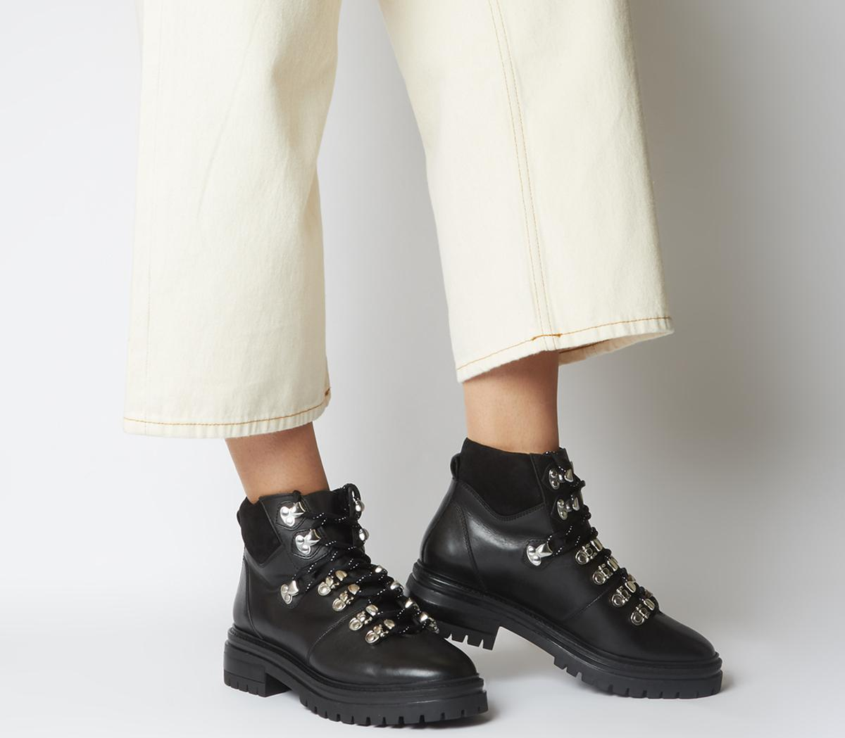 Office Above All Hiker Boots Black