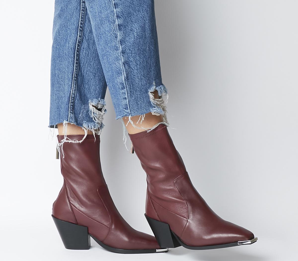 Ashen Western Sock Boots