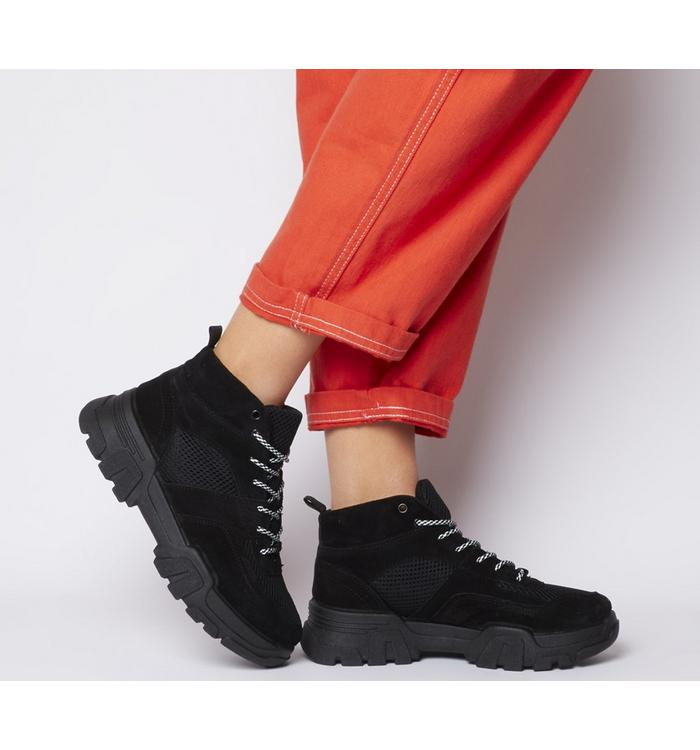 Office Office Foolish High Top Trainer BLACK MIX