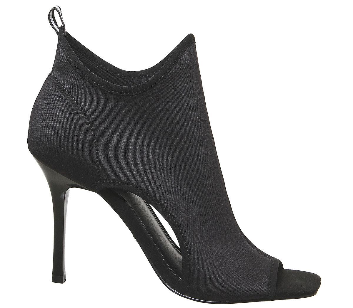 Office Home Run Sports Shoe Boots Black Neoprene White