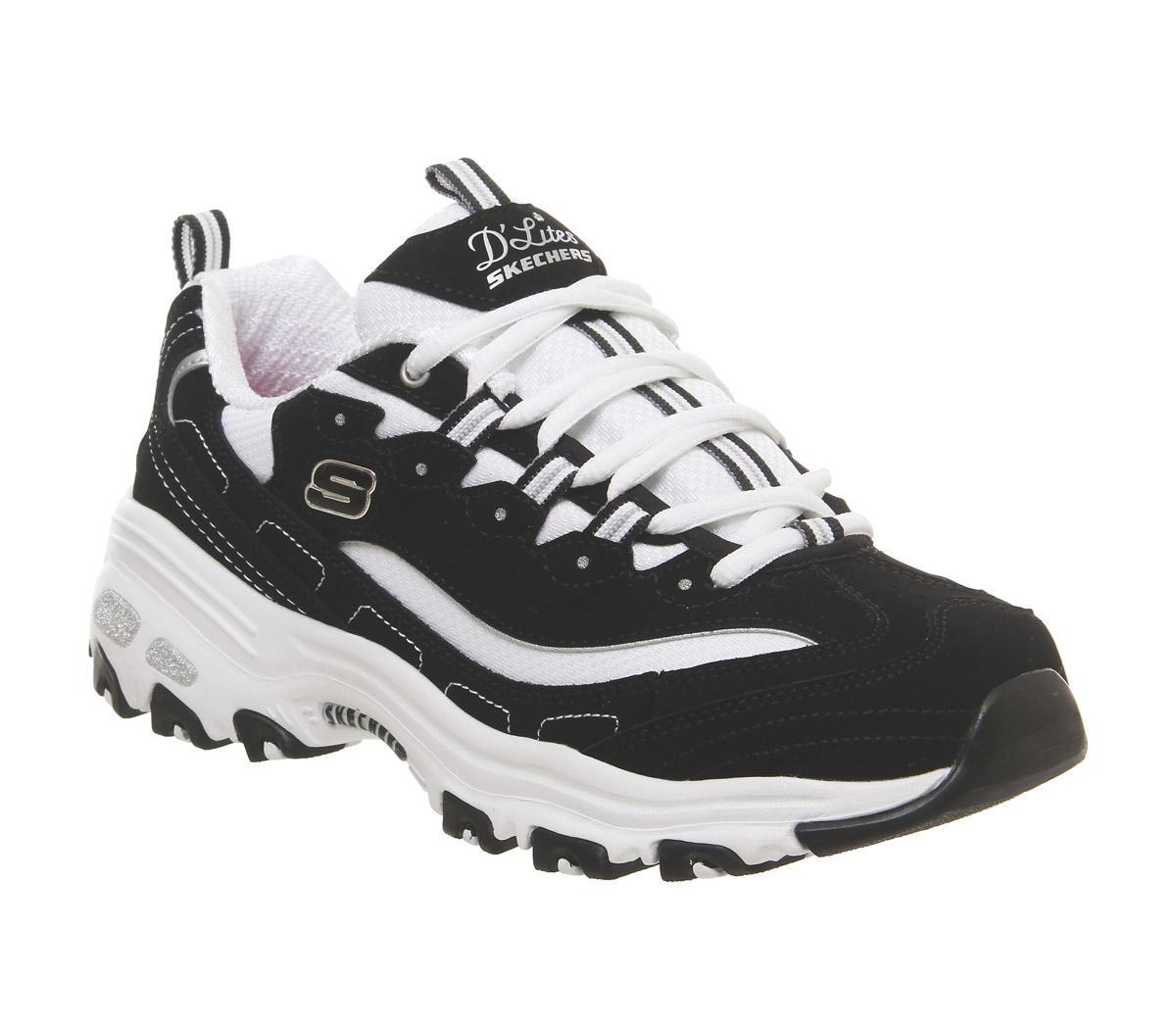 Buenos precios disfruta de precio barato estilo clásico Skechers D'lites Black White - Hers trainers