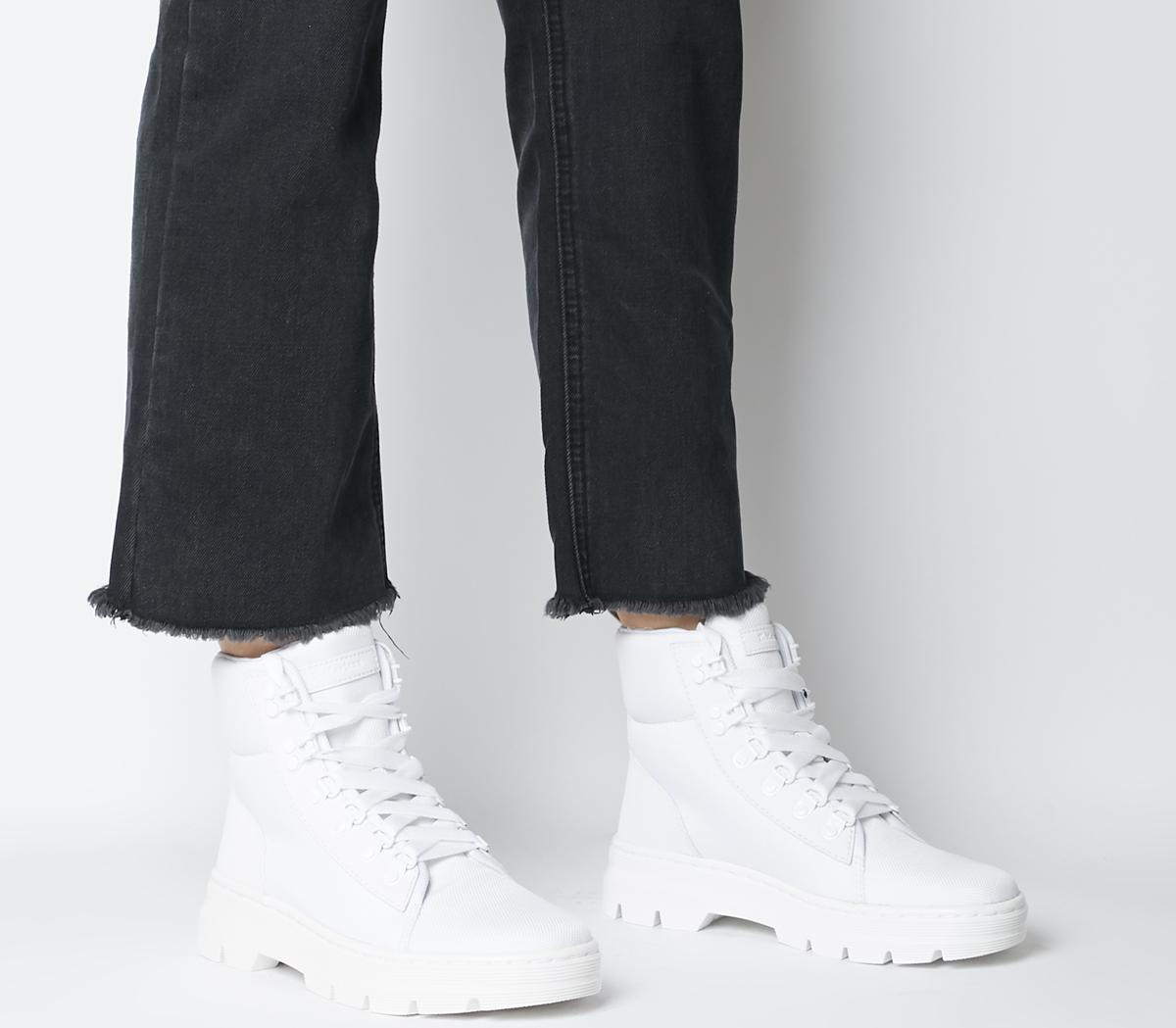 Dr. Martens Combs 6 Tie Boots White