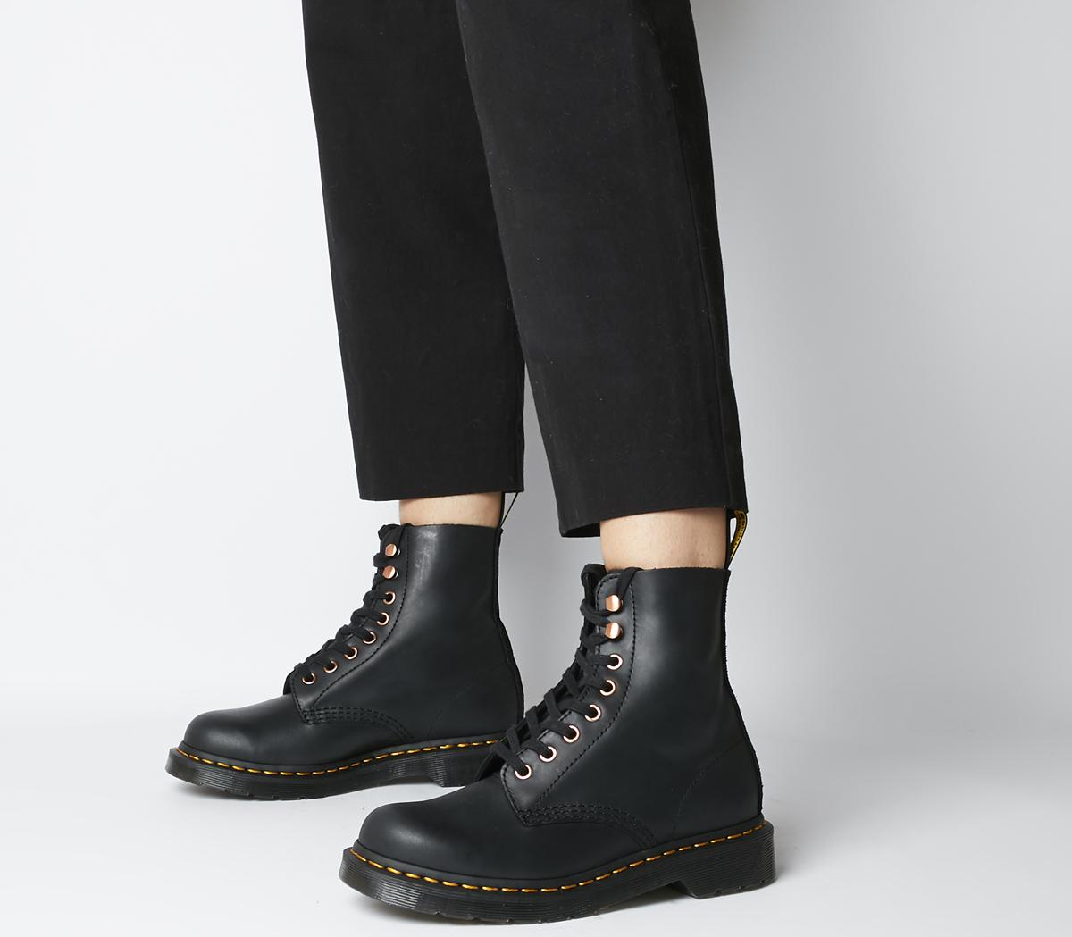 Dr. Martens 8 Eyelet Soap Stone Boots