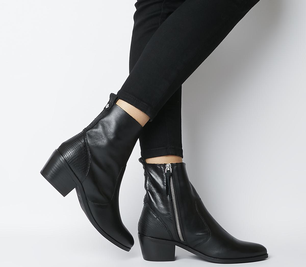 Office Aloe Unlined Casual Boots Black