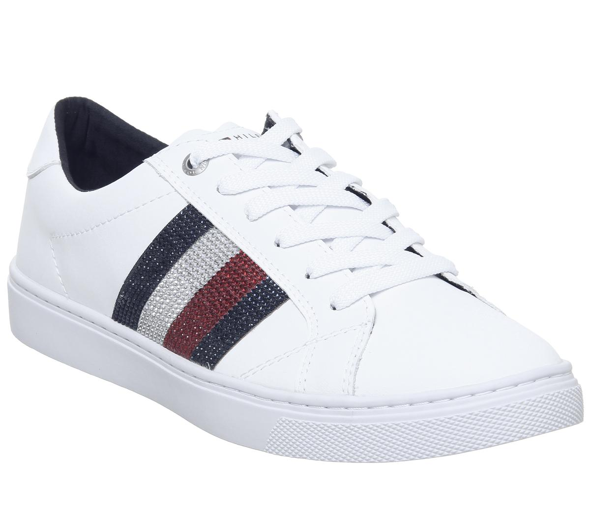 Tommy Hilfiger Crystal Leather Trainers