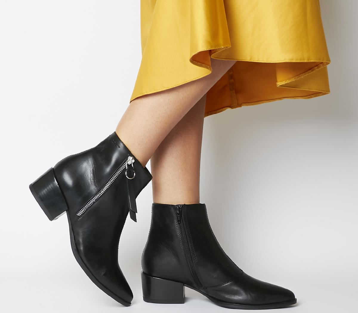 Vagabond Marja Zip Ankle Boots Black