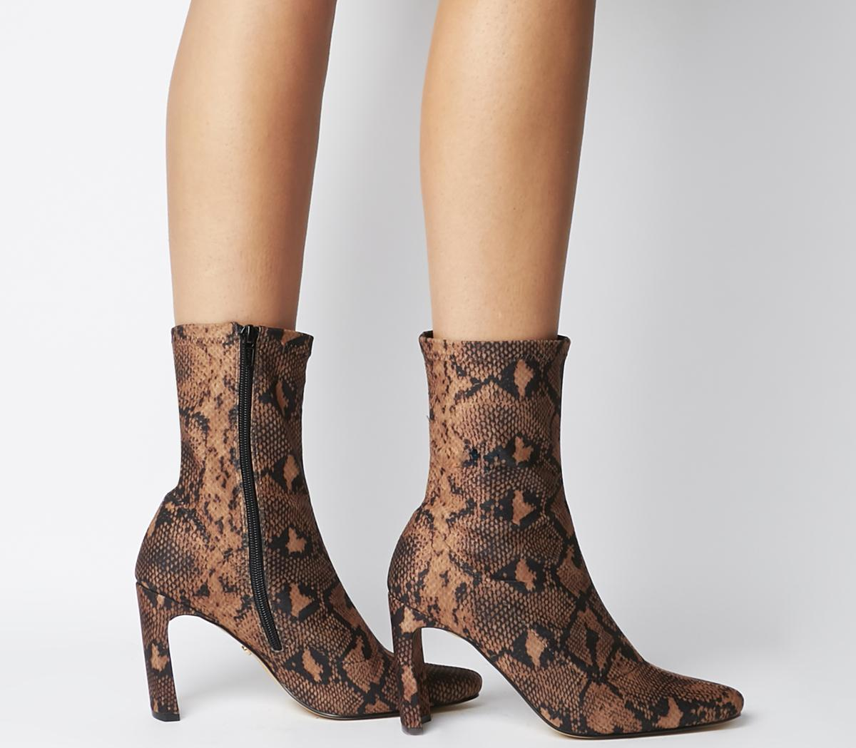 Amore Block Heel Sock Boots