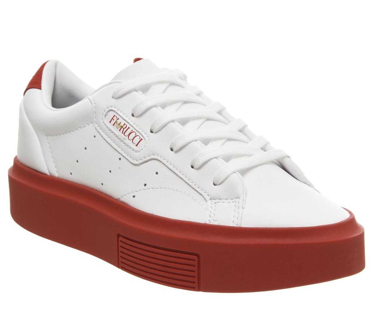 adidas Sleek Super Trainers White Red