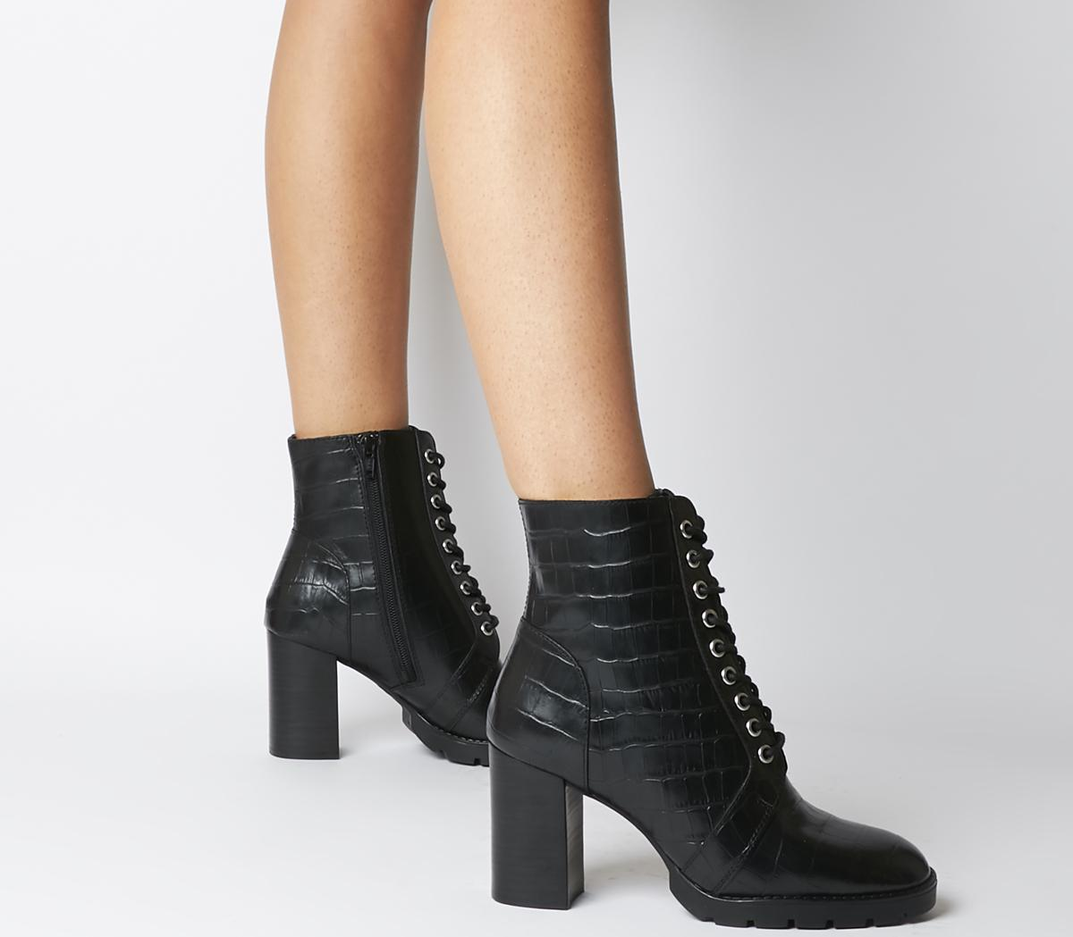 Astra Heeled Lace Up Boots