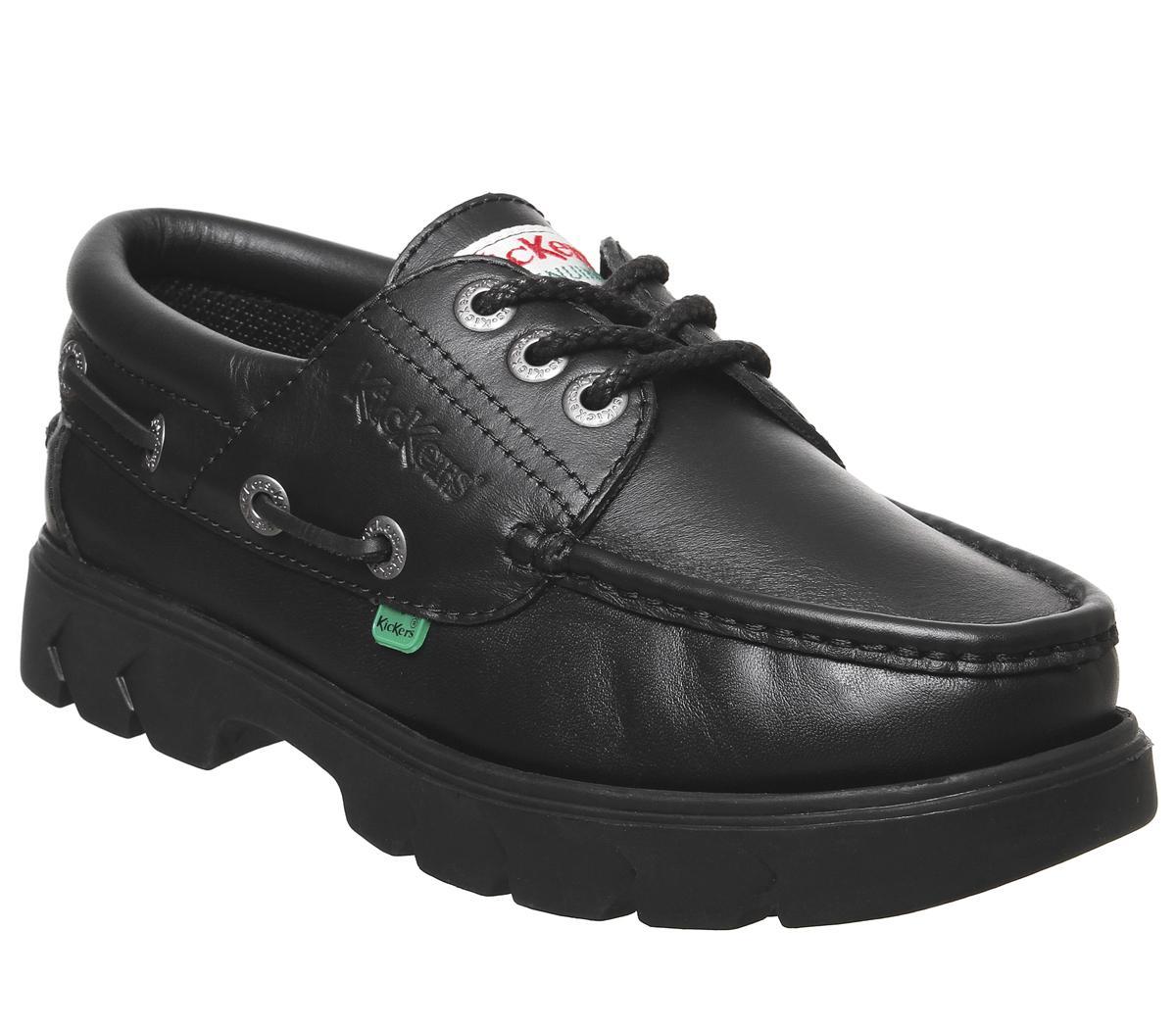 Kickers Lennon Boat Shoe Black - Casual
