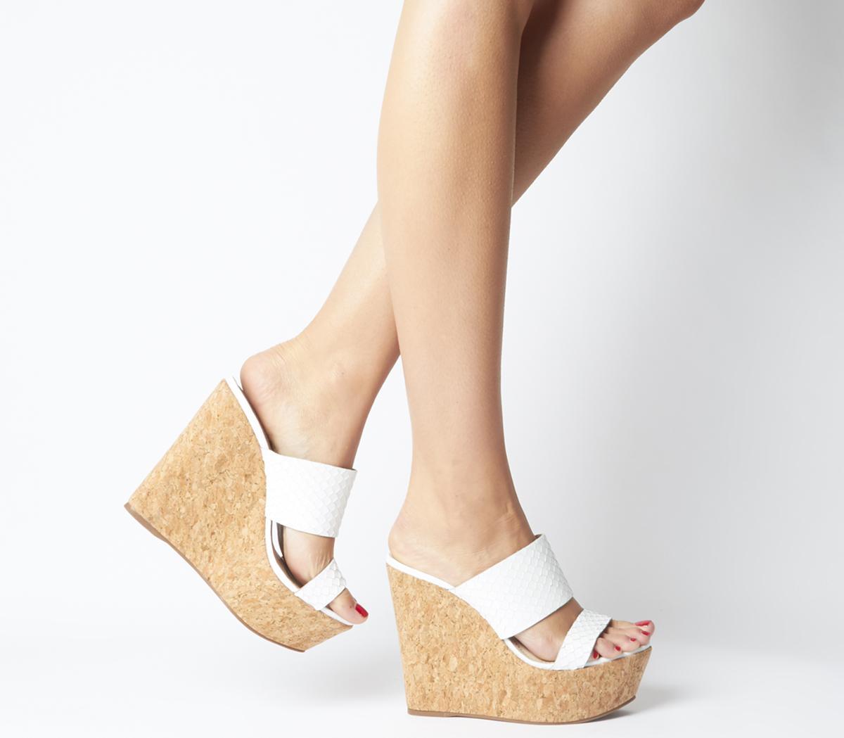 Humidity Glam Cork Wedge Heels