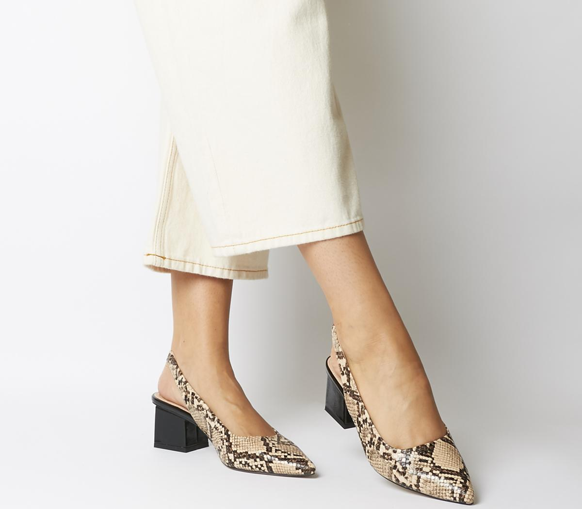 Mindless Point Slingback Court Heels