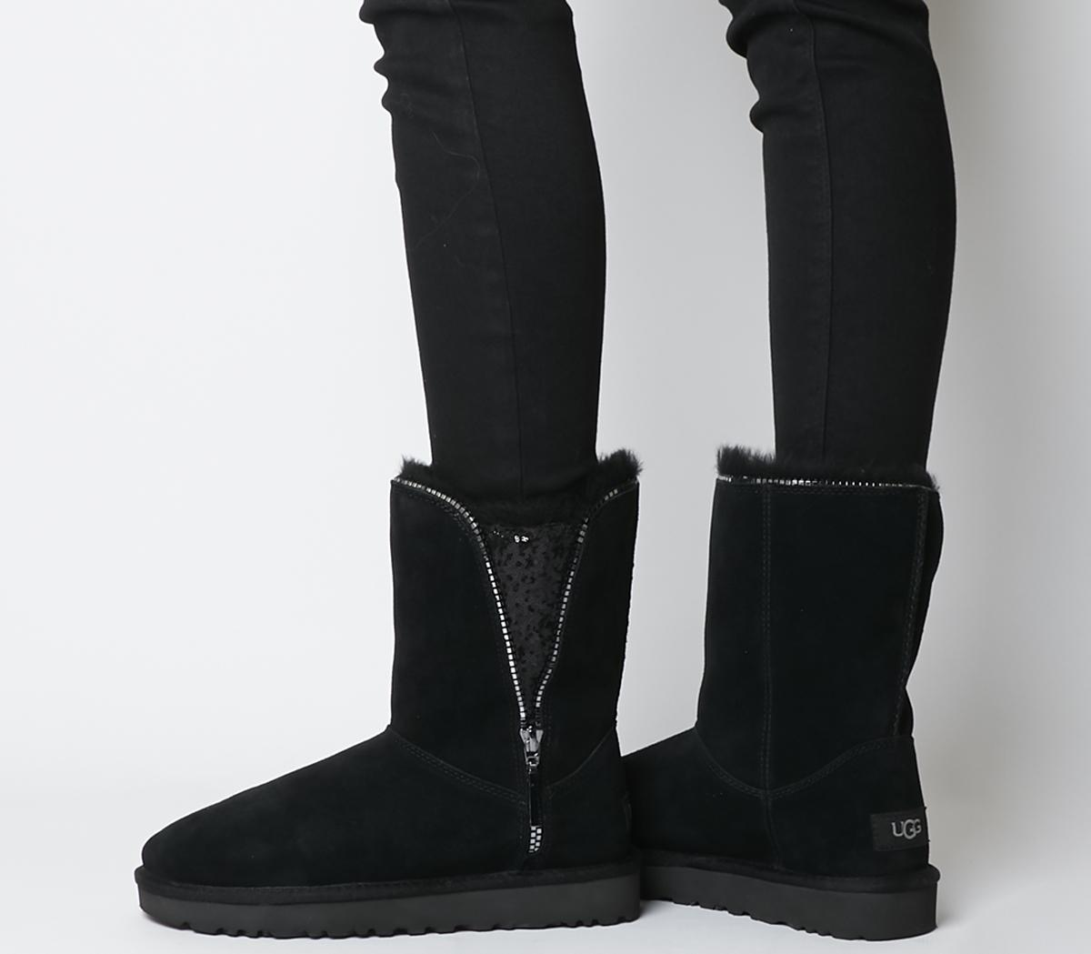 UGG Classic Zip Boots Black - Ankle Boots