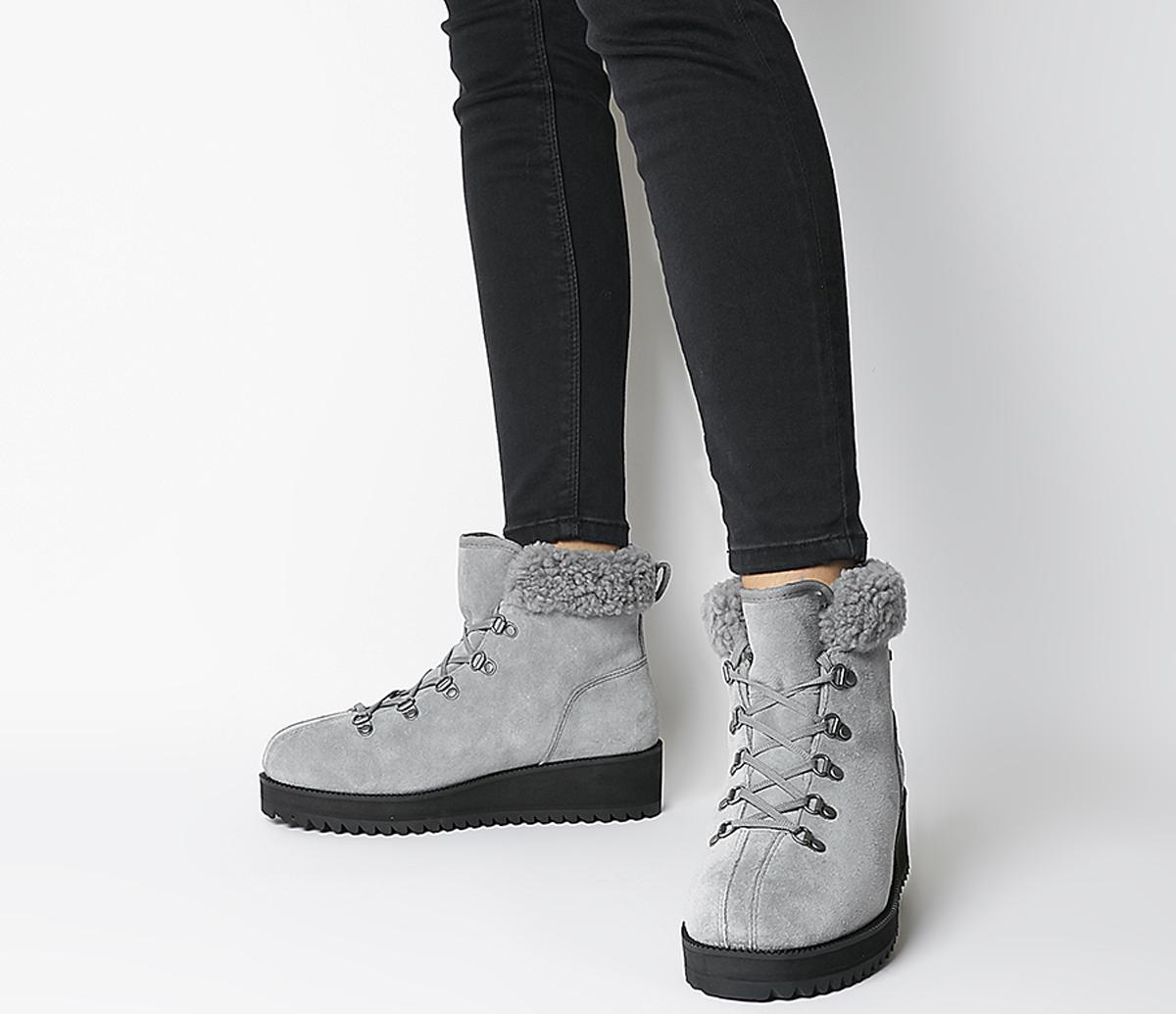 UGG Birch Lace Up Shearling Boots