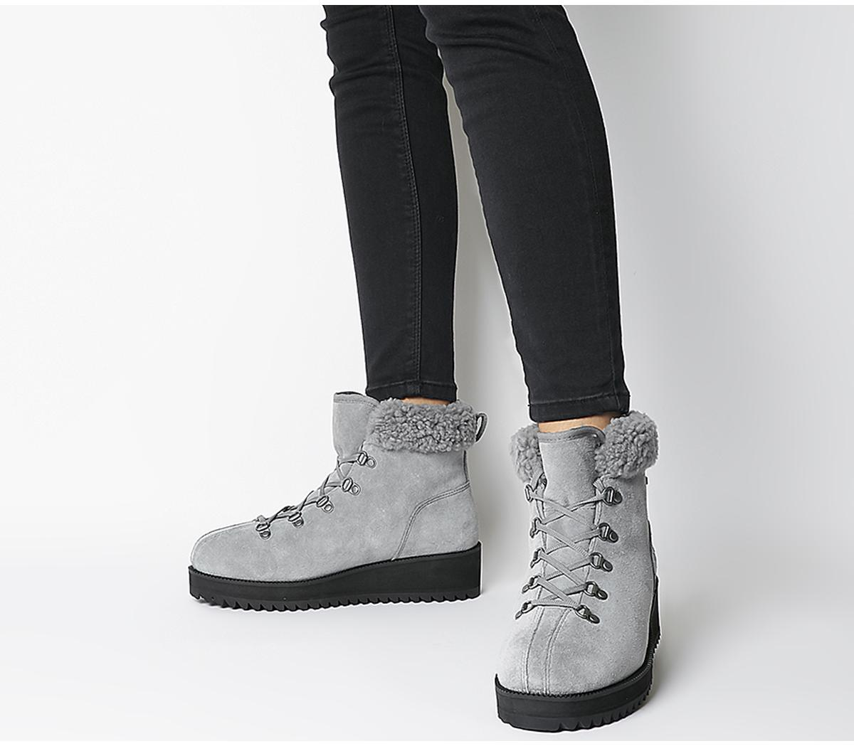 Birch Lace Up Shearling Boots