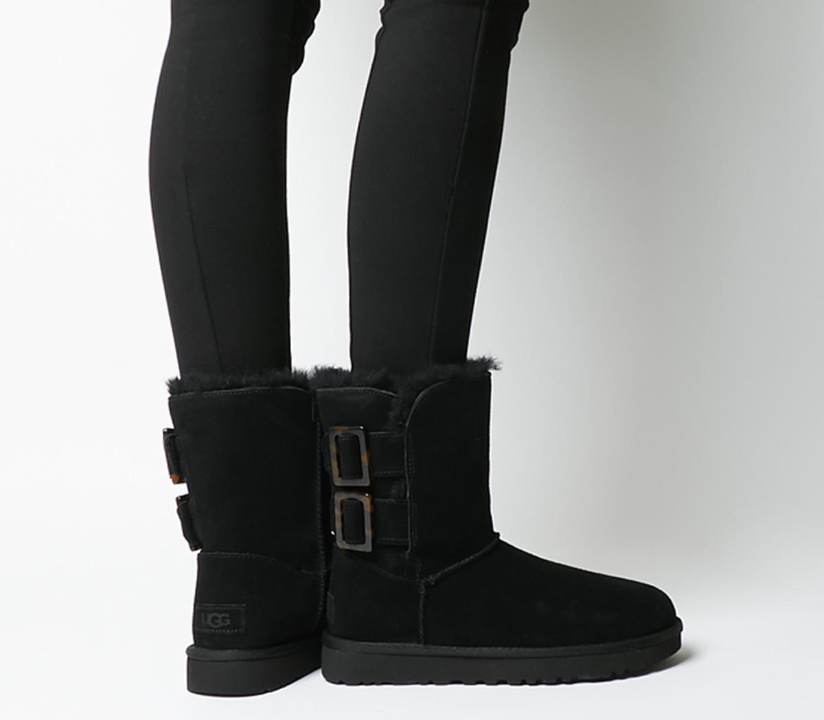 UGG Bailey Fashion Buckle Boots Black