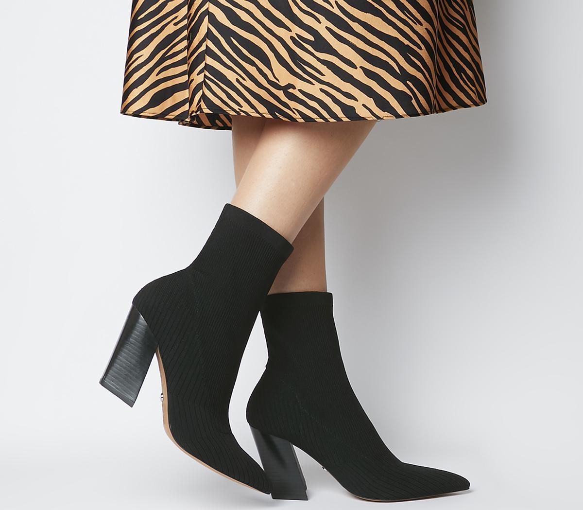 Aniseed Angled Heel Sock Boots