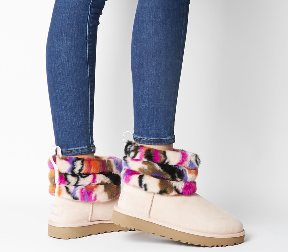Fluff Mini Quilted Motlee Boots