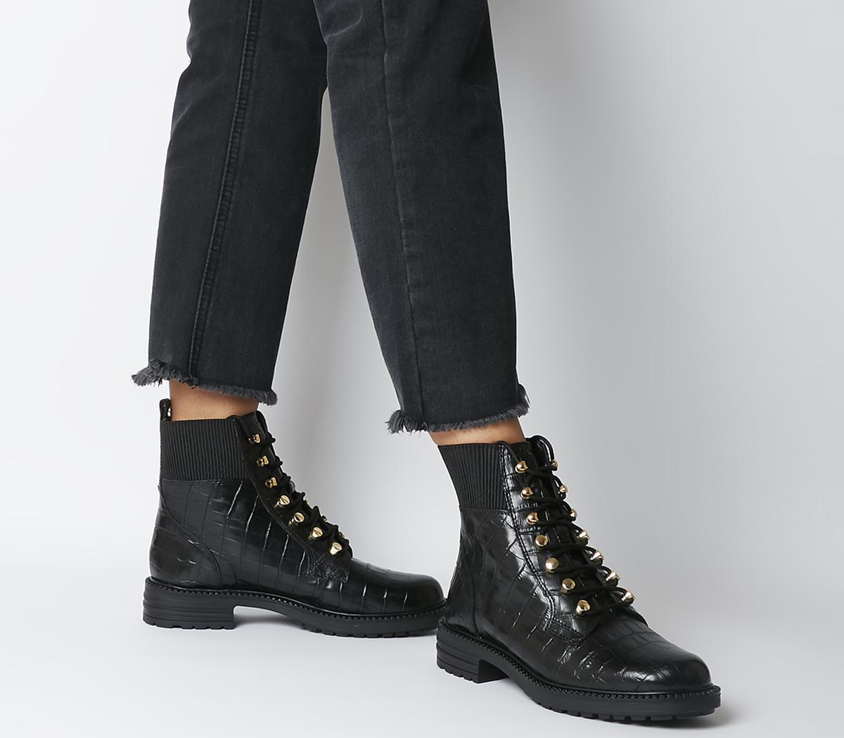 Alpine Elastic Topline Lace Up Boots